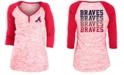 5th & Ocean Atlanta Braves Women's Space Dye Raglan Shirt
