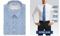 Calvin Klein Men's Extra-Slim Fit Performance Stretch Empire Print Dress Shirt