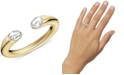 Calvin Klein Crystal Cuff Ring in Gold-Tone PVD