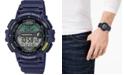 Casio Men's Digital Fishing Gear Blue Resin Strap Watch 47mm