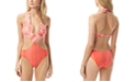 Vince Camuto Mixed-Print Monokini One-Piece Swimsuit