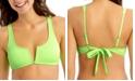 California Waves Juniors' Ribbed V-Wire Bralette Bikini Top, Created for Macy's