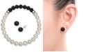 Macy's 2-Pc. Set Cultured Freshwater Pearl (6-7mm) & Crystal Stretch Bracelet & Matching Stud Earrings