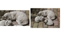 Campania International Reclining Dog Garden Statue