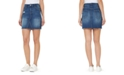Numero Distressed Cotton Denim Pencil Skirt