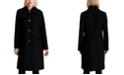 Michael Kors Faux-Leather-Trim Walker Coat