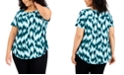 Alfani Plus Size Printed Knit Top, Created for Macy's