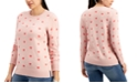 Style & Co Heart-Print Pullover Sweater, Created for Macy's