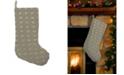 """Mod Lifestyles Ogee Beaded Velvet Christmas Stocking, 8"""" X 22"""""""
