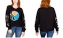 Rebellious One Juniors' Celestial Graphic Print Sweatshirt