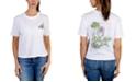 Rebellious One Juniors' Flower Back Graphic T-Shirt