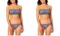 California Waves Juniors' Floral-Print Bandeau Bikini Top & Hipster Bottoms, Created for Macy's