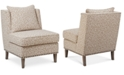 Furniture Camile Fabric Accent Chair