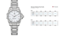 TAG Heuer Women's Swiss Aquaracer Diamond Accent Stainless Steel Bracelet Watch 32mm