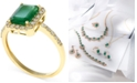 EFFY Collection Brasilica by EFFY® Emerald (1-3/8 ct. t.w.) and Diamond (1/4 ct. t.w.) Ring in 14k Gold, Created for Macy's