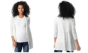 Motherhood Maternity French Terry Open-Front Cardigan