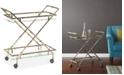Office Star Hassel Rectangular Bar Cart