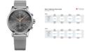 BOSS Hugo Boss Men's Chronograph Jet Stainless Steel Mesh Bracelet Watch 41mm