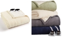 Biddeford Microplush Reverse Faux Sherpa Electric Full Blanket