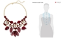 INC International Concepts I.N.C. Gold-Tone Stone, Crystal & Mesh Fabric Statement Necklace, Created for Macy's
