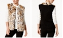 INC International Concepts I.N.C. Leopard-Print Faux Fur Vest, Created for Macy's