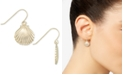 Macy's Shell Drop Earrings in 10k Gold