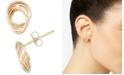 Macy's Polished Love Knot Stud Earrings in 10k Gold