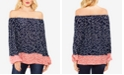 Vince Camuto Blouson-Sleeve Off-The-Shoulder Top
