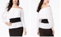 Thalia Sodi Smock-Waist Colorblocked Top, Created for Macy's