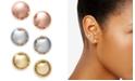 Charter Club Tri-Tone 3-Pc. Set Stud Earrings, Created for Macy's