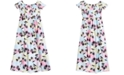 Epic Threads Smocked-Bodice Slit Printed Maxi Dress, Big Girls, Created for Macy's