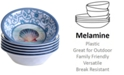 Certified International Ocean Dream Melamine All-Purpose Bowls, Set of 6