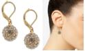Charter Club Gold-Tone Pavé Ball Drop Earrings, Created for Macy's