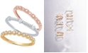 Macy's 3-Pc. Set Diamond Stacking Rings (3/8 ct. t.w.) in 14k Gold, White Gold & Rose Gold