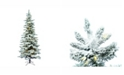 Vickerman 9' Flocked Utica Fir Slim Artificial Christmas Tree with 600 Warm White LED Lights