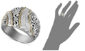 EFFY Collection Balissima by EFFY® Diamond Ribbon Statement Ring (1/4 ct. t.w.) in 18k Gold and Sterling Silver
