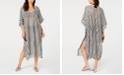 Calvin Klein Striped Maxi Caftan Cover-Up
