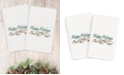 Linum Home CLOSEOUT!  Christmas Happy Holidays 100% Turkish Cotton 2-Pc. Hand Towel Set