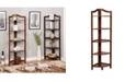 Furniture of America Emery 5-Tiered Corner Ladder Shelf