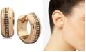 Anne Klein Gold-Tone Textured Mini Huggie Small Hoop Earrings