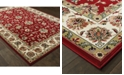 "Oriental Weavers Kashan 4929R Red/Ivory 1'10"" x 3' Area Rug"