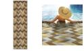 """Oriental Weavers Bali 4902X Gray/Multi 2'3"""" x 7'6"""" Indoor/Outdoor Runner Area Rug"""
