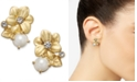 kate spade new york  Gold-Tone Imitation Pearl Flower Stud Earrings