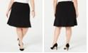 Bar III Trendy Plus Size Ruffle-Hem Skirt, Created for Macy's
