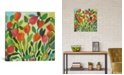"iCanvas ""Tulip Garden"" By Kim Parker Gallery-Wrapped Canvas Print - 37"" x 37"" x 0.75"""
