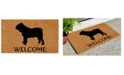 """Home & More Bull Dog 17"""" x 29"""" Coir/Vinyl Doormat"""