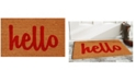 "Home & More Hello Script 24"" x 36"" Coir/Vinyl Doormat"