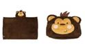 Jesse & Lulu 3 Stories Trading Toddler Plush Monkey Hooded Blanket