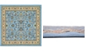 Bridgeport Home Arnav Arn1 Light Blue 8' x 8' Square Area Rug