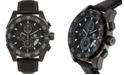 Buech & Boilat Torrent Men's Chronograph Watch Black Leather Strap, Black Dial, 44mm